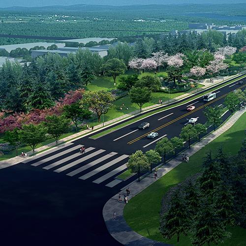 河南平顶山复兴路景观设计