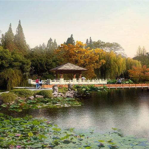 大冶保安樊湖大道景观设计