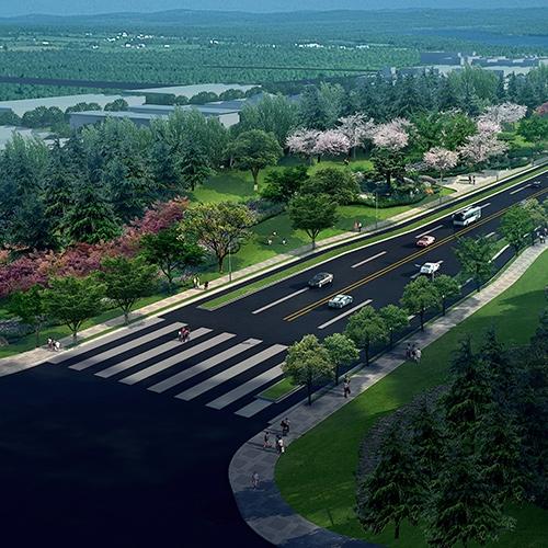 深圳河南平顶山复兴路景观设计
